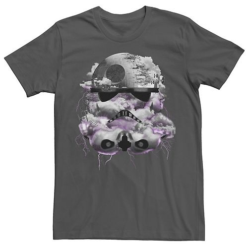 Men's Star Wars Clouded Stormtrooper Head Graphic Tee