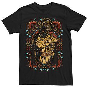 Men's Star Wars Darth Vader Festivity Aztecan Patter Reach Graphic Tee