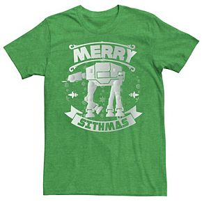 Men's Star Wars AT-AT Christmas Merry Sithmas Holiday Graphic Tee