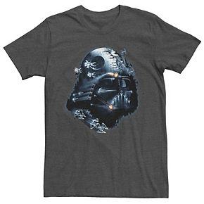 Men's Star Wars Darth Vader Helmet Collage Graphic Tee