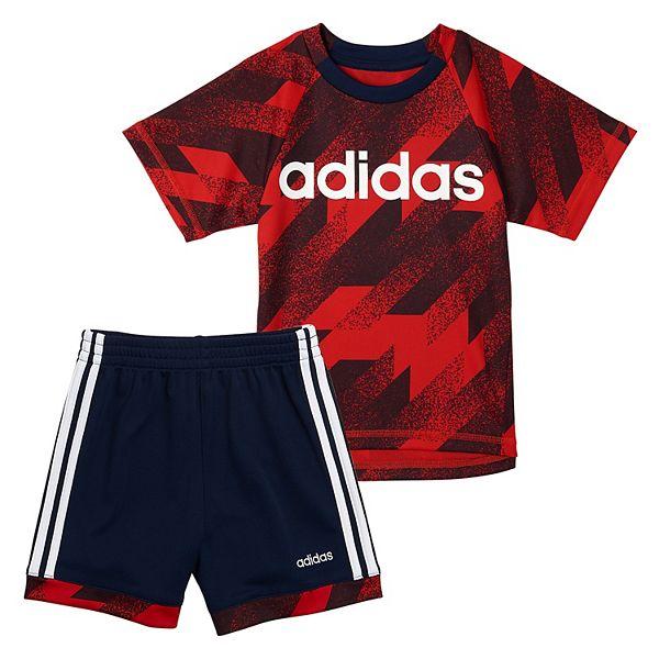 Boys 4-7 adidas Abstract Tee & Shorts Set