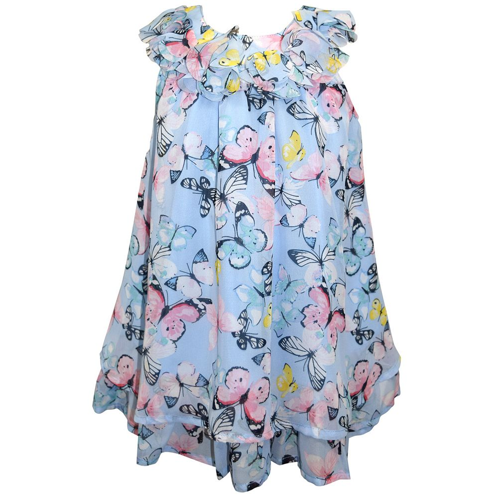 Baby Girl Blueberi Boulevard Butterfly Chiffon Dress