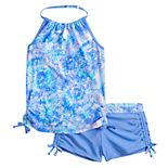 Girls 7-16 Free Country Summer Burst Signature Halter Swimsuit Set