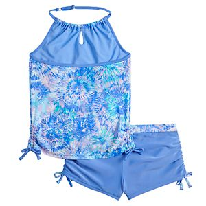 Girls 7-16 Free Country Summer Burst Signature Halter Swimsuit Set