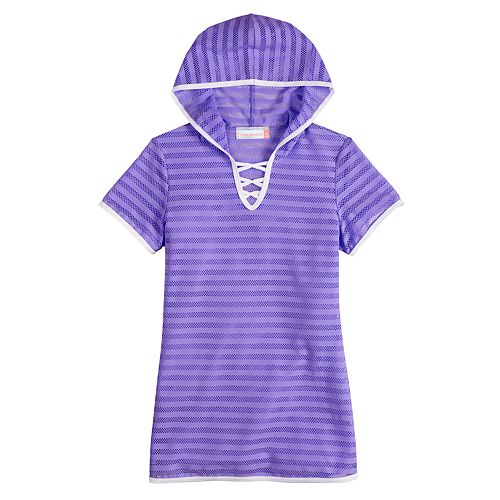 Girls 7-16 Free Country Hooded Criss-Cross Swim Cover-Up
