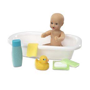 Melissa & Doug Mine to Love Baby Doll Bathtub and Accessories Set