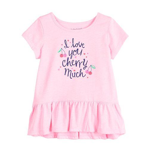 Baby Girl Jumping Beans® Peplum-Hem Top
