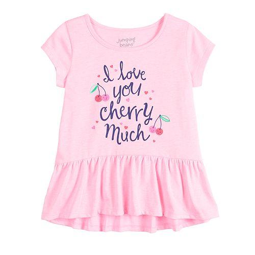 Toddler Girl Jumping Beans® Peplum-Hem Top