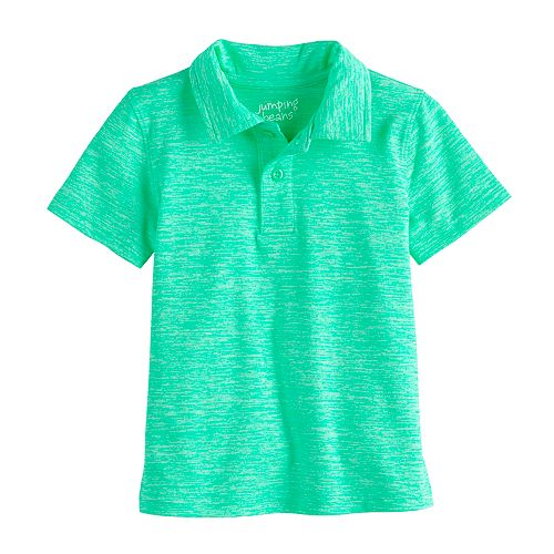 Select a size Jumping Beans Boys/' Turquoise Short Sleeve Pique Polo Shirt