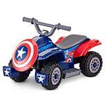 Kid Trax Captain America Toddler Quad