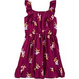 Girls 4-14 Carter's Floral Poplin Dress