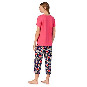 Women's Cuddl Duds Top and Capri with Wristlet