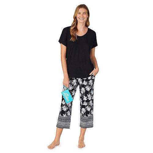 Women's Cuddl Duds® Top and Capri Pajama Set with Wristlet
