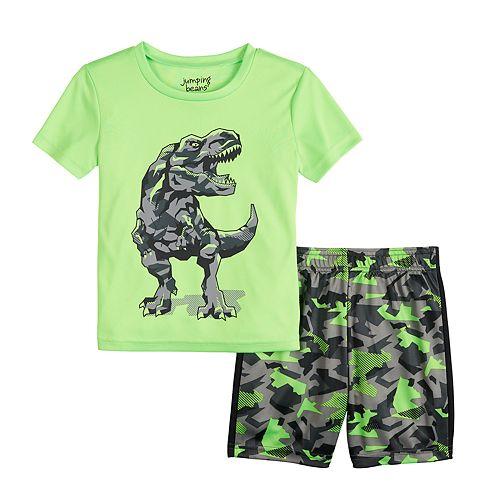 Toddler Boy Jumping Beans® Dinosaur Camo Active Tee & Shorts Set