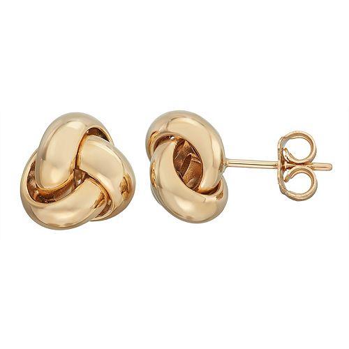 Forever 14K Love Knot Stud Earrings