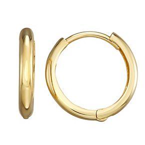 Forever 14K Gold Polished Huggie Hoop Earrings