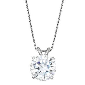 Charles & Colvard 14k Gold 3 1/10 Carat T.W. Lab-Created Moissanite Solitaire Pendant