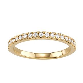 Charles & Colvard 14k Gold 1/3 Carat T.W. Lab-Created Moissanite Wedding Band