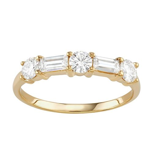 Charles & Colvard 14k Gold 1 1/6 Carat T.W. Lab-Created Moissanite Stackable Ring