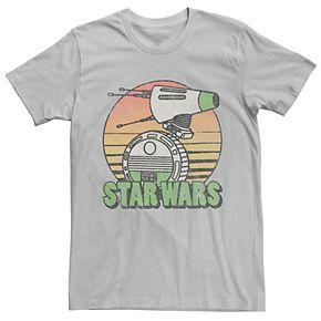 Men's Star Wars The Rise of Skywalker Retro D-0 Sunset Tee