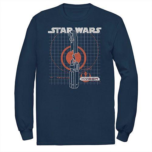 Men's Star Wars Lightsaber Blueprint Graphic Sweatshirt