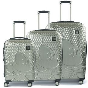 FUL Disney Textured Mickey Mouse Hardside 3-Piece Spinner Luggage Set
