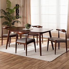 Baxton Studio Aeron Dining Table & Chair 5-piece Set