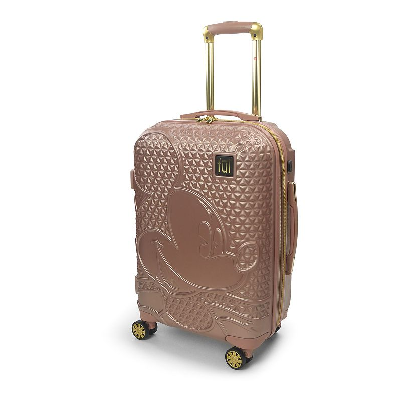 FUL Disney Textured Mickey Mouse Hardside Spinner Luggage, 21 Carryon