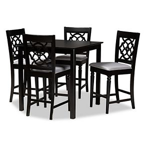 Baxton Studio Arden Pub Table & Stool 5-piece Set