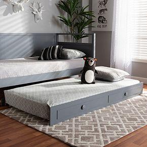 Baxton Studio Cintia Twin Trundle Bed