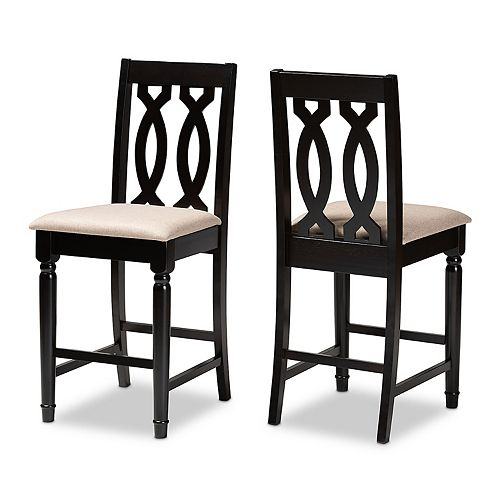 Baxton Studio Darcie Counter Stool 2-piece Set