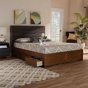 Baxton Studio Elin Two Tone Queen Bed