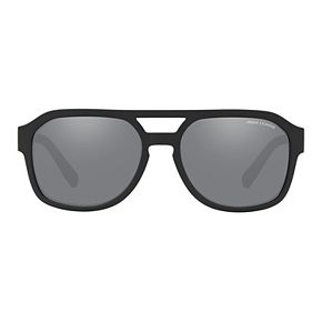 Women's Armani Exchange AX4074S 57 Mirror Black Sunglasses