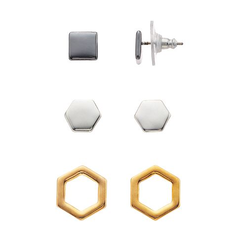Nine West Geometric Stud Earring Set