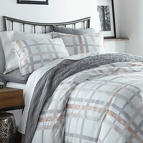 City Scene Atlas Plaid Comforter Set
