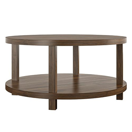 Novogratz Oakdale Round 2-Tier Coffee Table
