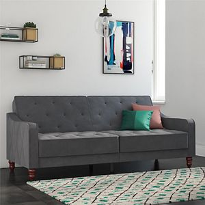 Novogratz Vintage Tufted Split Back Futon