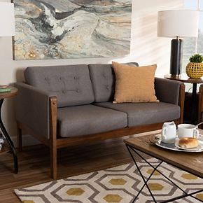Baxton Studio Lenne Loveseat Sofa