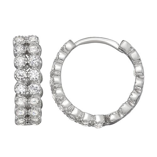 Contessa Di Capri Inside Out Hoop Earrings
