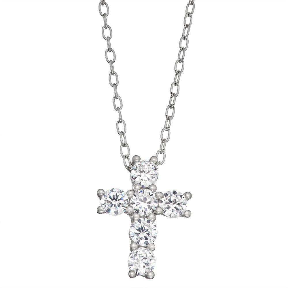Contessa Di Capri Cubic Zirconia Cross Pendant