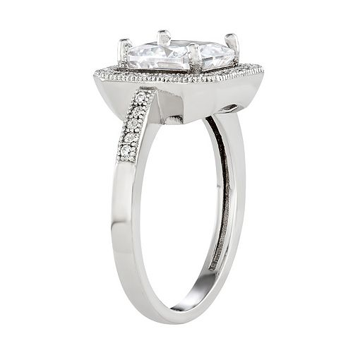 Contessa Di Capri Cubic Zirconia Cushion Cut Ring