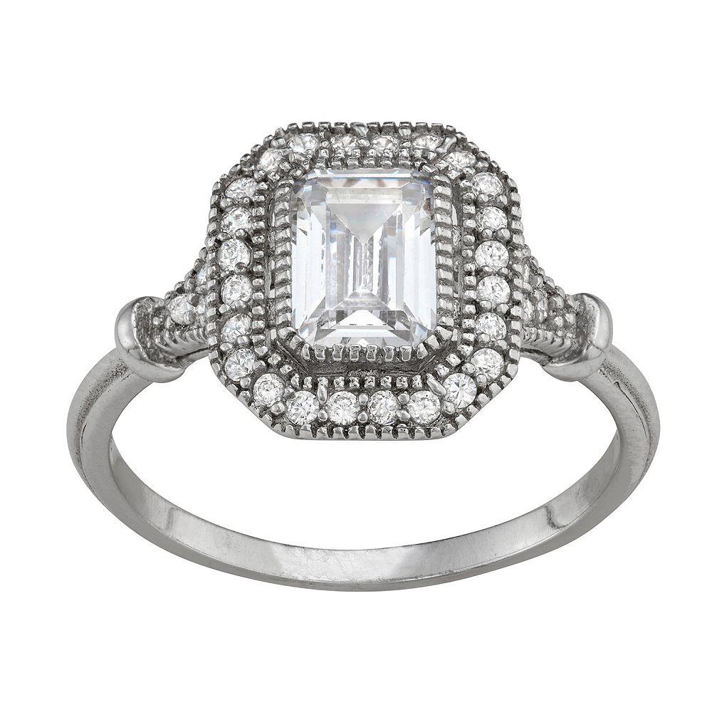 Contessa Di Capri Emerald Cut Ring