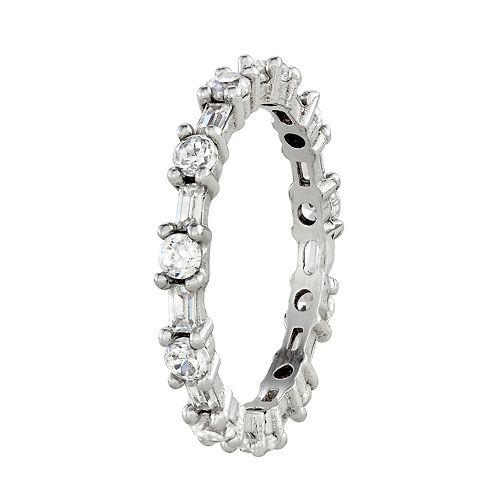Contessa Di Capri Cubic Zirconia Eternity Ring