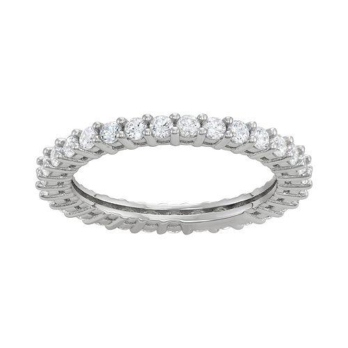 Contessa Di Capri Cubic Zirconia Round Eternity Band Ring