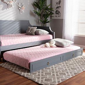 Baxton Studio Mariana Twin Trundle Bed