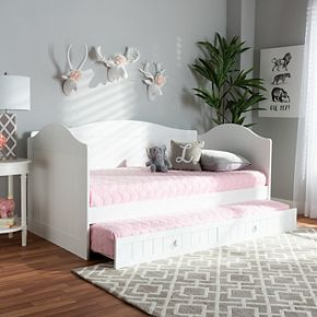 Baxton Studio Neves Twin Daybed & Trundle