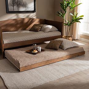 Baxton Studio Veles Twin Trundle Bed
