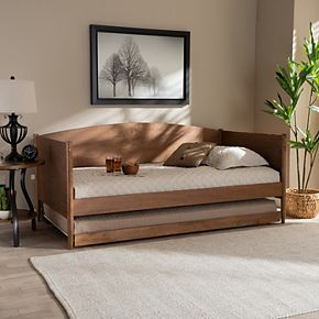 Baxton Studio Veles Twin Daybed & Trundle