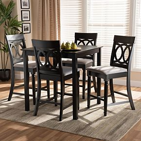 Baxton Studio Verina Pub Table & Stool 5-piece Set