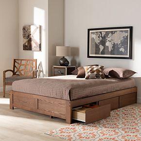 Baxton Studio Wren Storage Bed